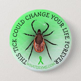 Bóton Redondo 7.62cm Botão da consciência da doença de Lyme do