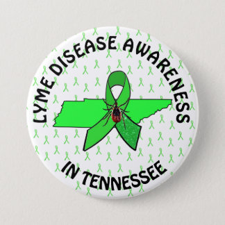 Bóton Redondo 7.62cm Botão da consciência da doença de Tennessee Lyme