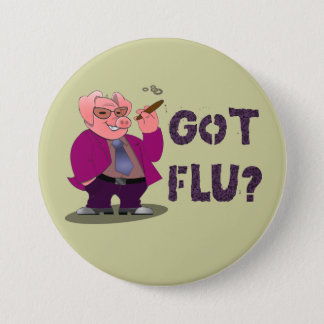 Bóton Redondo 7.62cm Botão da gripe dos suínos