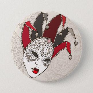 Bóton Redondo 7.62cm Botão da máscara do carnaval do carnaval