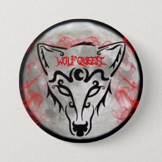 Bóton Redondo 7.62cm Botão da rainha do lobo