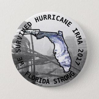 Bóton Redondo 7.62cm Botão de IRMA 2017 do furacão forte de Florida