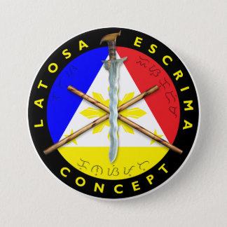 Bóton Redondo 7.62cm Botão de Latosa Escrima