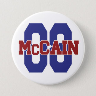 Bóton Redondo 7.62cm Botão de McCain '08