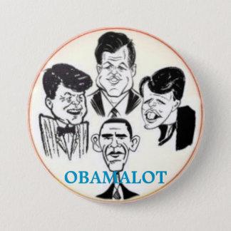 Bóton Redondo 7.62cm Botão de Obamalot 3-Inch