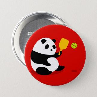 """Bóton Redondo 7.62cm Botão de Pickleball: De """"panda Pickleball """""""