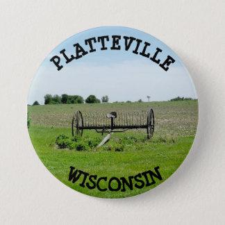 Bóton Redondo 7.62cm Botão de Platteville Wisconsin