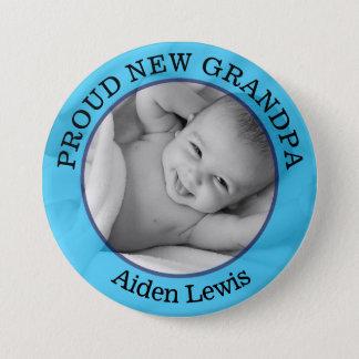 Bóton Redondo 7.62cm Botão de primeira geração novo orgulhoso azul do