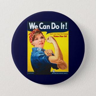 Bóton Redondo 7.62cm Botão de Sarah Palin
