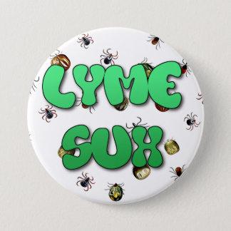 Bóton Redondo 7.62cm Botão de SucksTicks da doença de Lyme