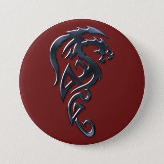 Bóton Redondo 7.62cm Botão desenfreado do dragão carmesim