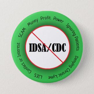 Bóton Redondo 7.62cm Botão do CDC da doença de Lyme anti IDSA