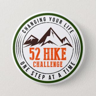 Bóton Redondo 7.62cm Botão do desafio de 52 caminhadas