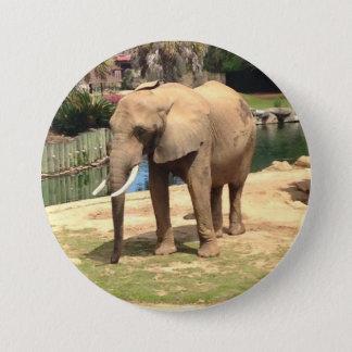 Bóton Redondo 7.62cm Botão do elefante