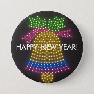 Bóton Redondo 7.62cm Botão do feliz ano novo
