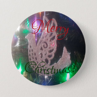 Bóton Redondo 7.62cm Botão do Feliz Natal
