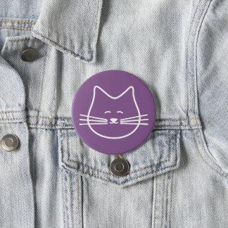 Bóton Redondo 7.62cm botão do gato do gatinho