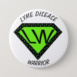Bóton Redondo 7.62cm Botão do guerreiro da doença de Lyme
