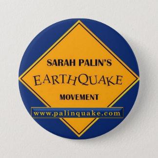 Bóton Redondo 7.62cm Botão do movimento do terremoto de Sarah Palin