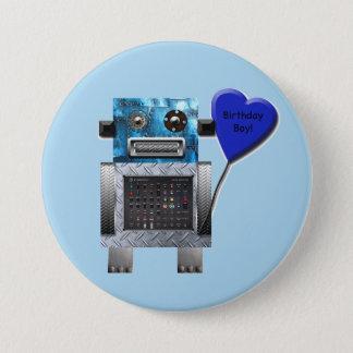 Bóton Redondo 7.62cm Botão do partido do robô do menino do aniversário