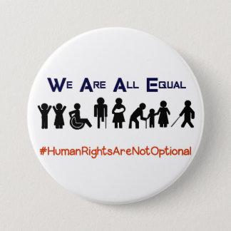 Bóton Redondo 7.62cm Botão do protesto da inabilidade da igualdade dos