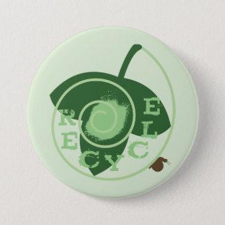 Bóton Redondo 7.62cm Botão do reciclar