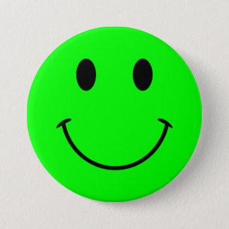 Bóton Redondo 7.62cm Botão do smiley face do limão
