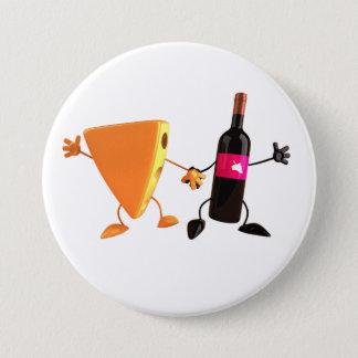 Bóton Redondo 7.62cm Botão do vinho e do queijo