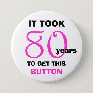 Bóton Redondo 7.62cm botão dos presentes da mordaça do aniversário do