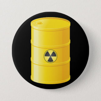 Bóton Redondo 7.62cm Botão dos resíduos radioactivos