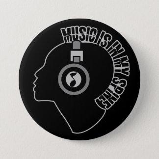 Bóton Redondo 7.62cm Botão feito sob encomenda da cor da música