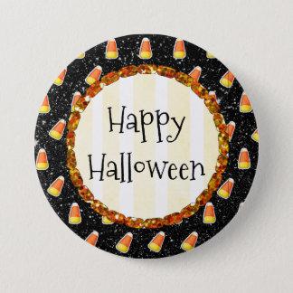 Bóton Redondo 7.62cm Botão feliz do Dia das Bruxas do milho de doces