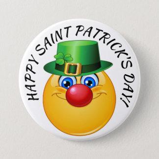 Bóton Redondo 7.62cm Botão feliz do dia de Patrick de santo