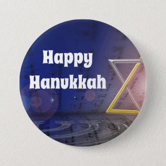 Bóton Redondo 7.62cm Botão feliz do judaísmo de Hanukkah