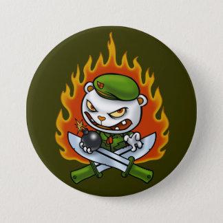 Bóton Redondo 7.62cm Botão Flippy do tatuagem da chama