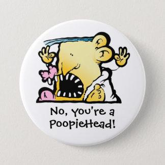 Bóton Redondo 7.62cm Botão grande de PoopieHead