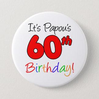 Bóton Redondo 7.62cm Botão grego do vovô da festa de aniversário de