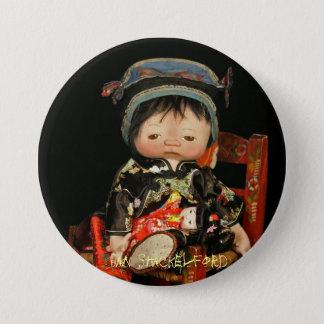 Bóton Redondo 7.62cm Botão Jin Jin do bebê de janeiro Shackelford