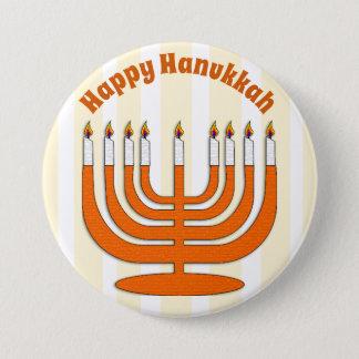 Bóton Redondo 7.62cm Botão judaico feliz do feriado de Hanukkah