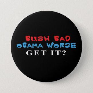 Bóton Redondo 7.62cm Botão mais mau mau de Bush Obama