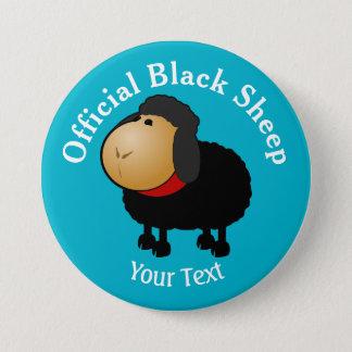 Bóton Redondo 7.62cm Botão oficial engraçado das ovelhas negras