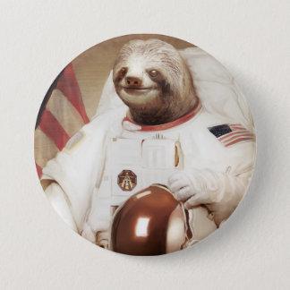 Bóton Redondo 7.62cm Botão redondo da preguiça do astronauta