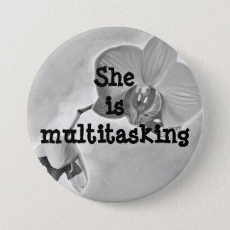 Bóton Redondo 7.62cm Botão redondo do dia das mães a multitarefas da