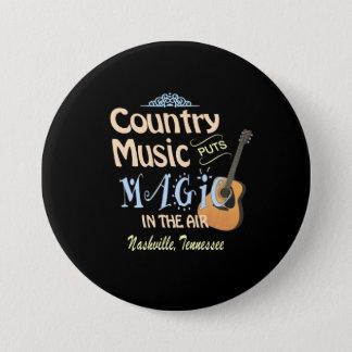 Bóton Redondo 7.62cm Botão redondo mágico da música country de