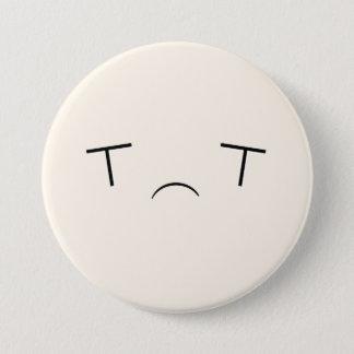 Bóton Redondo 7.62cm Botão triste super de Kawaii Emoji
