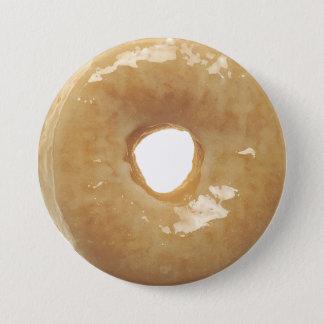 Bóton Redondo 7.62cm Botão vitrificado engraçado da filhós da rosquinha