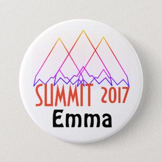 Bóton Redondo 7.62cm Botões da cimeira
