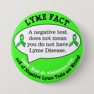 Bóton Redondo 7.62cm Botões do fato da doença de Lyme para eventos de