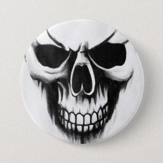 Bóton Redondo 7.62cm branco feito sob encomenda do botão do crânio da