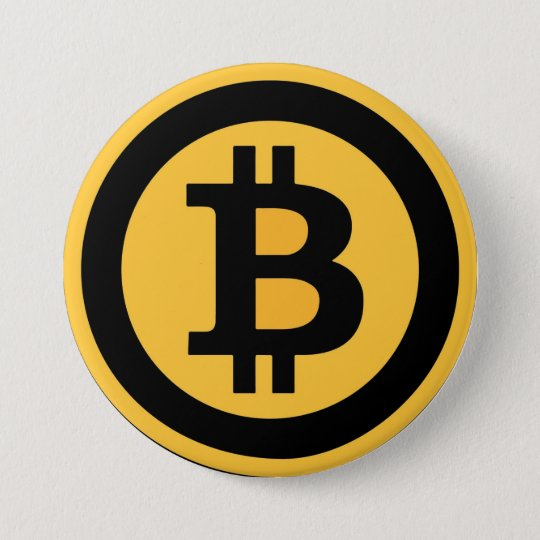 Bóton Redondo 7.62cm Broche Bitcoin